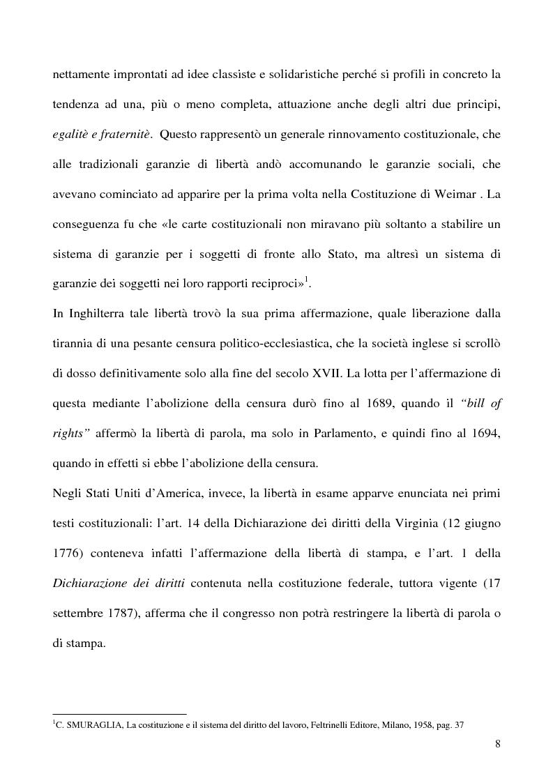 Anteprima della tesi: Libertà di opinione del lavoratore, Pagina 5