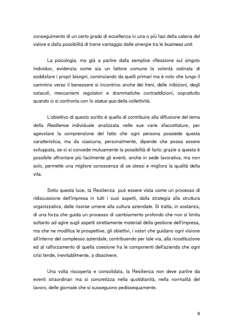 Anteprima della tesi: Resilience individuale e contesto organizzativo: il caso Oracle, Pagina 2