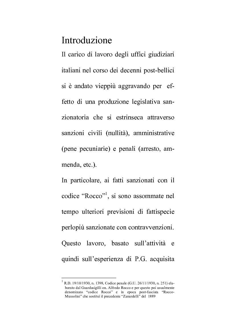 Anteprima della tesi: Delle compentenze della P.A. nella estinzione dei reati contravenzionali in materia di violazione delle norme di igiene e sicurezza del lavoro, Pagina 1