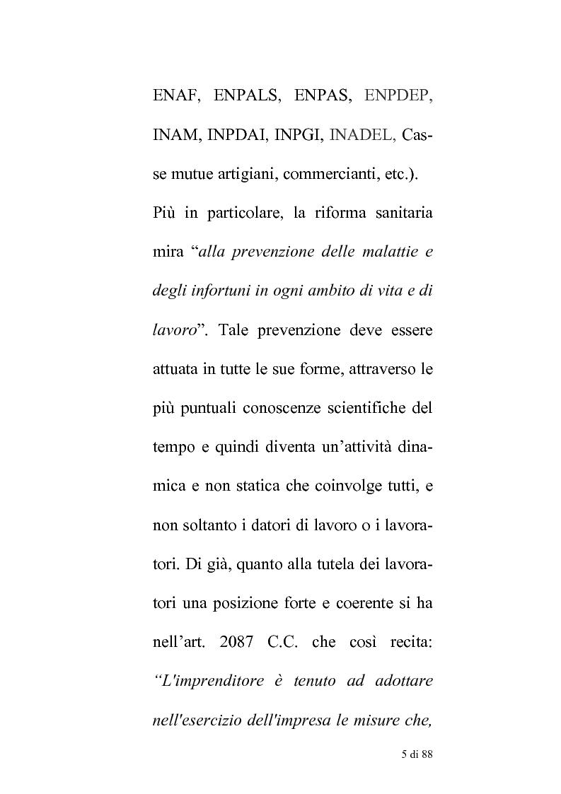 Anteprima della tesi: Delle compentenze della P.A. nella estinzione dei reati contravenzionali in materia di violazione delle norme di igiene e sicurezza del lavoro, Pagina 4