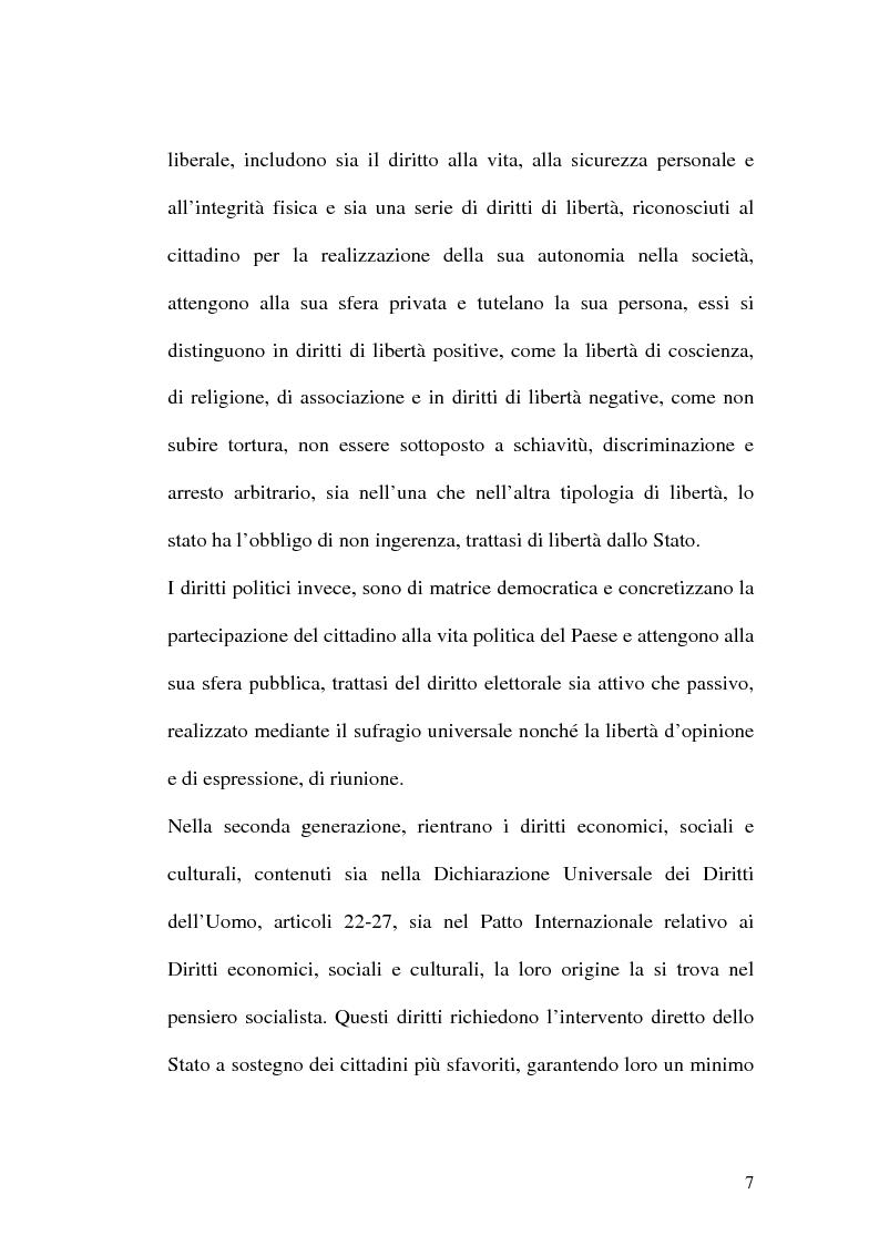 Anteprima della tesi: I diritti dell'uomo nei paesi arabo islamici, Pagina 7