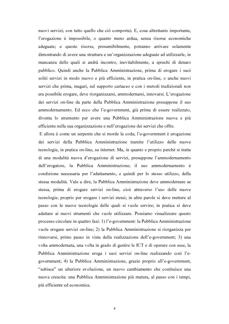 Anteprima della tesi: Politiche comunitarie, statali e regionali in tema di e-government, Pagina 4