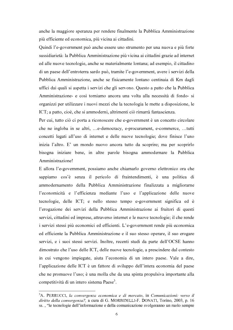 Anteprima della tesi: Politiche comunitarie, statali e regionali in tema di e-government, Pagina 6