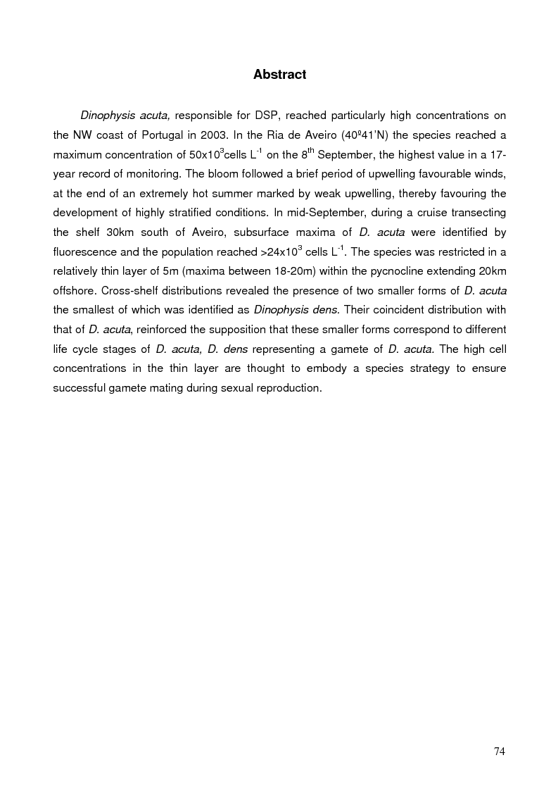 Anteprima della tesi: Dynamics of Phytoplankton and Zooplankton Communities on the Continental Shelf of Northern Portugal, Pagina 6