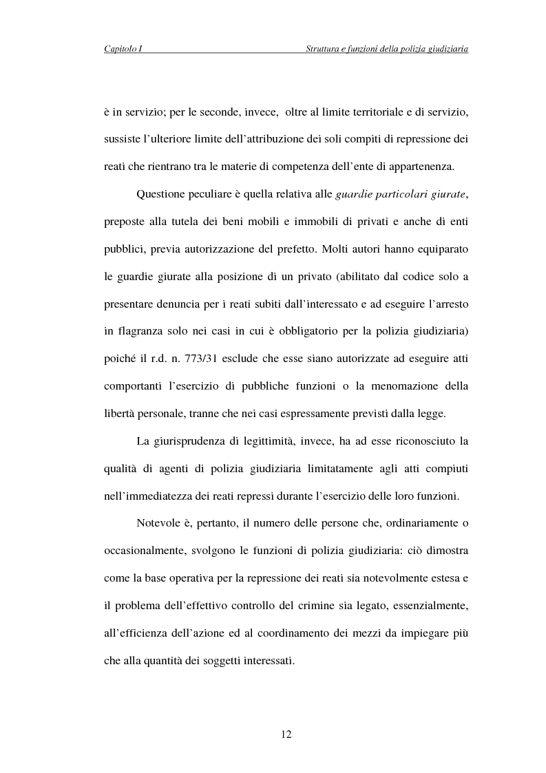 Anteprima della tesi: L'attività di indagine su iniziativa della polizia giudiziaria: profili giuridi e questioni pratiche, Pagina 12