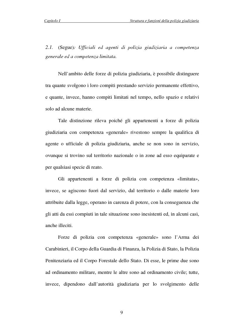 Anteprima della tesi: L'attività di indagine su iniziativa della polizia giudiziaria: profili giuridi e questioni pratiche, Pagina 9