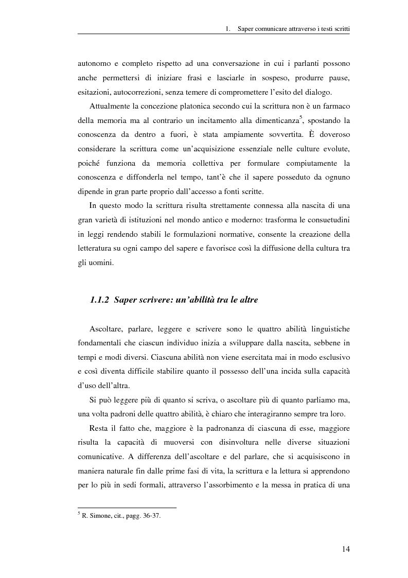 Anteprima della tesi: Questione di stile. Scrivere per capire e farsi capire all'interno della Pubblica Amministrazione, Pagina 10