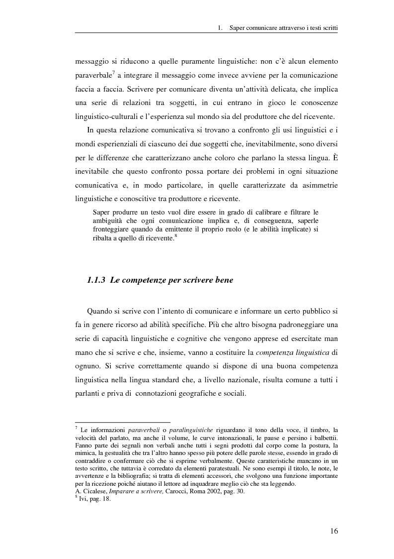 Anteprima della tesi: Questione di stile. Scrivere per capire e farsi capire all'interno della Pubblica Amministrazione, Pagina 12