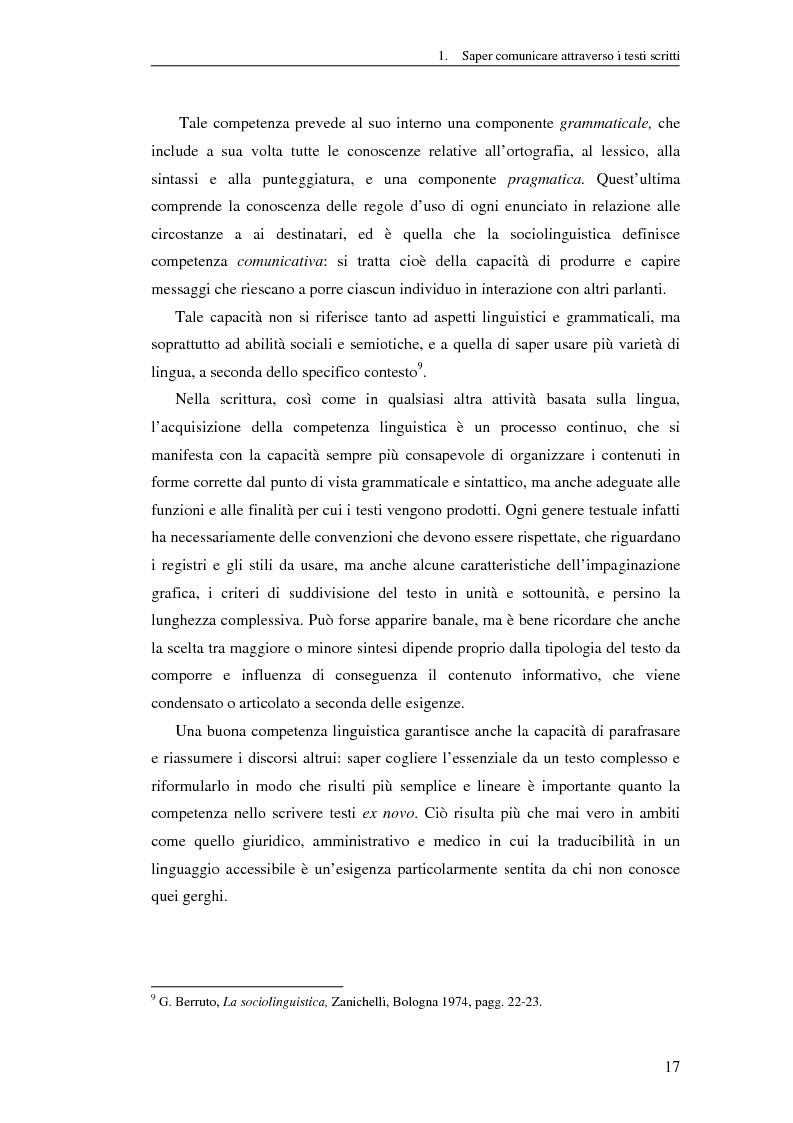 Anteprima della tesi: Questione di stile. Scrivere per capire e farsi capire all'interno della Pubblica Amministrazione, Pagina 13