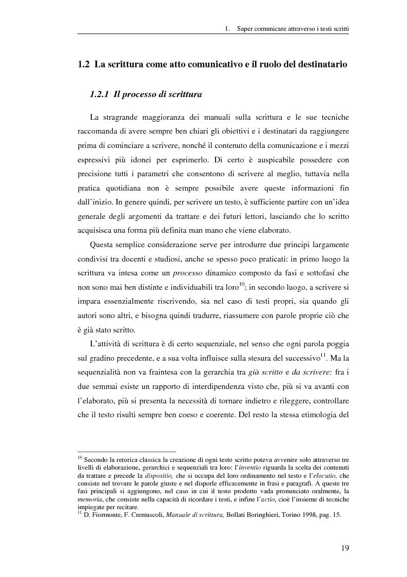 Anteprima della tesi: Questione di stile. Scrivere per capire e farsi capire all'interno della Pubblica Amministrazione, Pagina 15