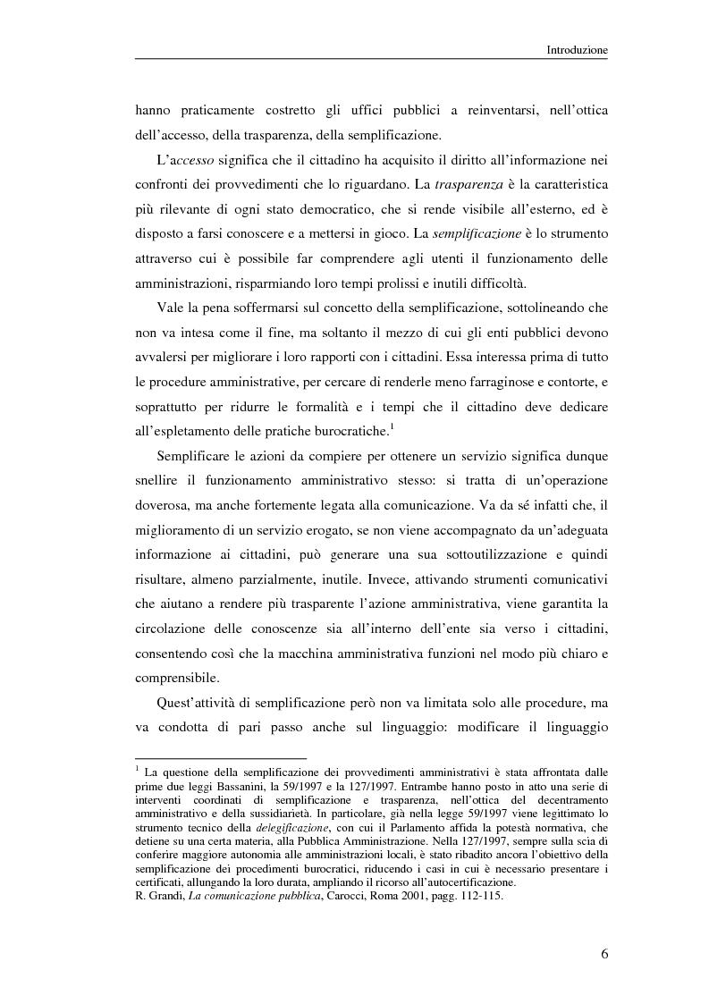 Anteprima della tesi: Questione di stile. Scrivere per capire e farsi capire all'interno della Pubblica Amministrazione, Pagina 2