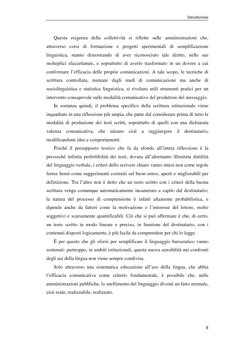 Anteprima della tesi: Questione di stile. Scrivere per capire e farsi capire all'interno della Pubblica Amministrazione, Pagina 4