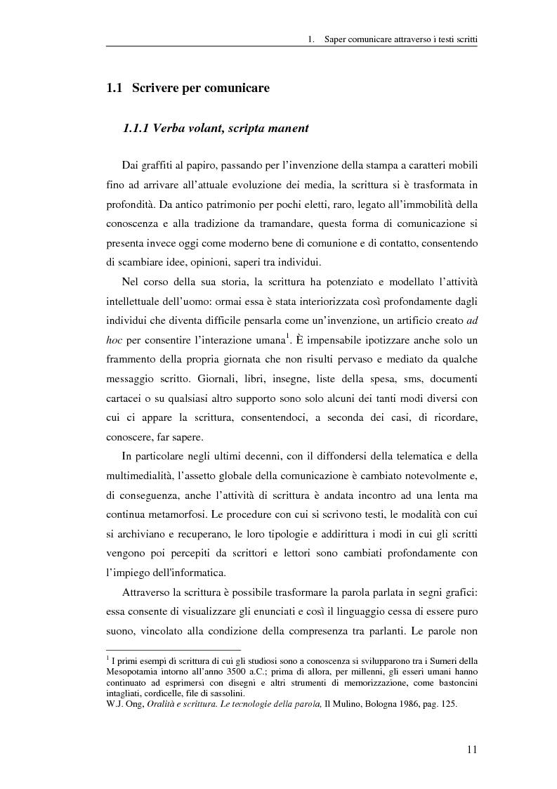 Anteprima della tesi: Questione di stile. Scrivere per capire e farsi capire all'interno della Pubblica Amministrazione, Pagina 7