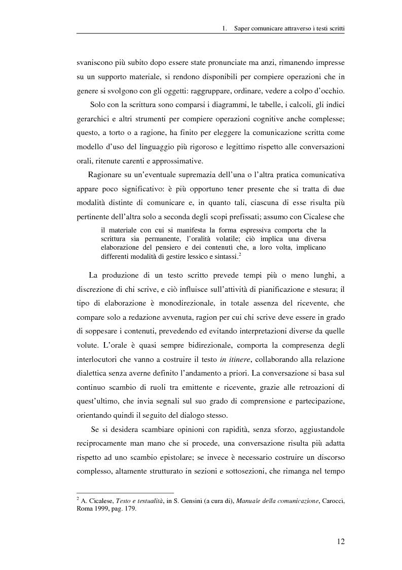 Anteprima della tesi: Questione di stile. Scrivere per capire e farsi capire all'interno della Pubblica Amministrazione, Pagina 8