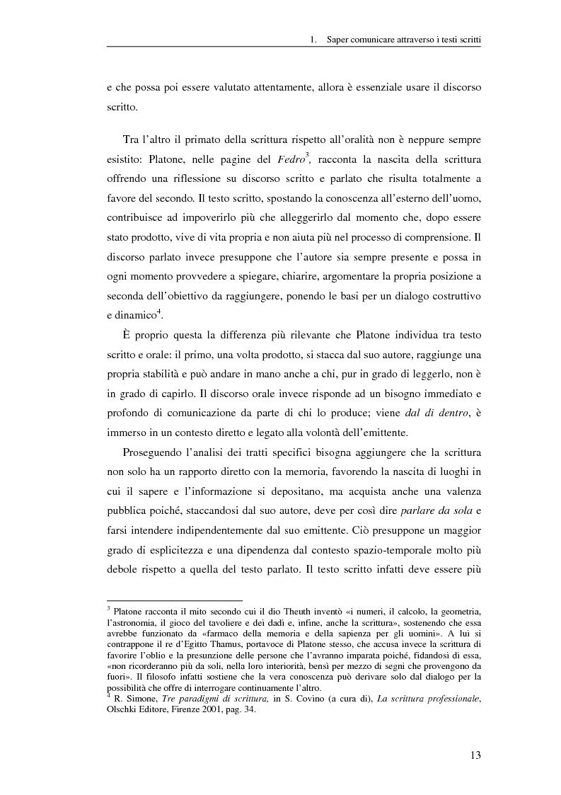 Anteprima della tesi: Questione di stile. Scrivere per capire e farsi capire all'interno della Pubblica Amministrazione, Pagina 9