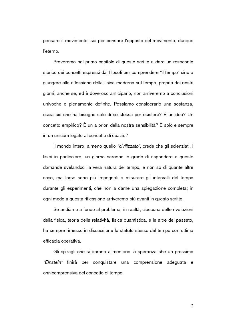 Anteprima della tesi: Il Concetto di tempo nella Teoria della Relatività di Einstein e le sue conseguenze filosofiche, Pagina 2