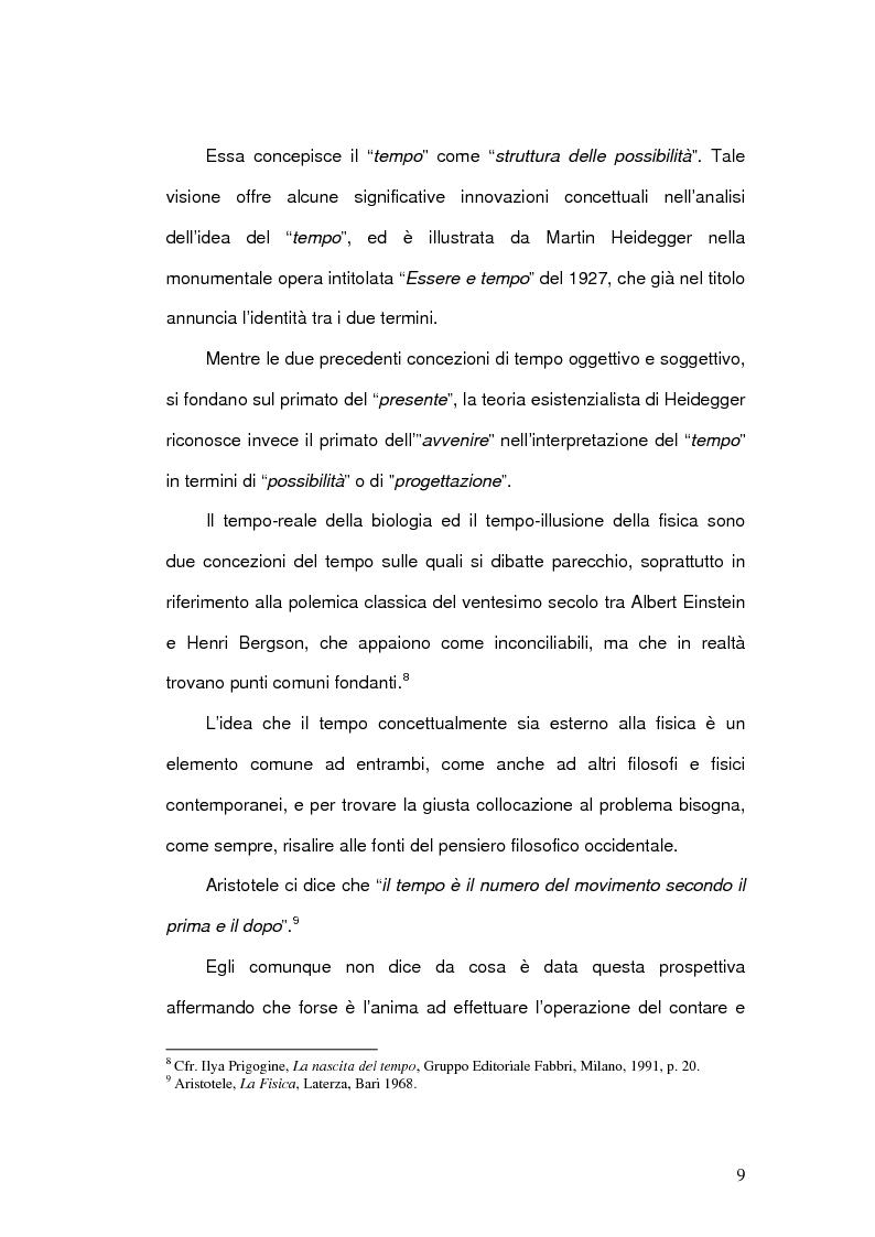 Anteprima della tesi: Il Concetto di tempo nella Teoria della Relatività di Einstein e le sue conseguenze filosofiche, Pagina 9