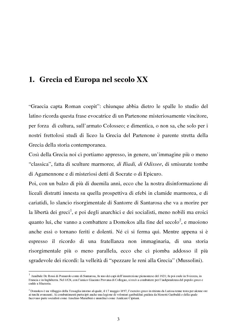 Anteprima della tesi: Le nuove vie della Grecia moderna, Pagina 1