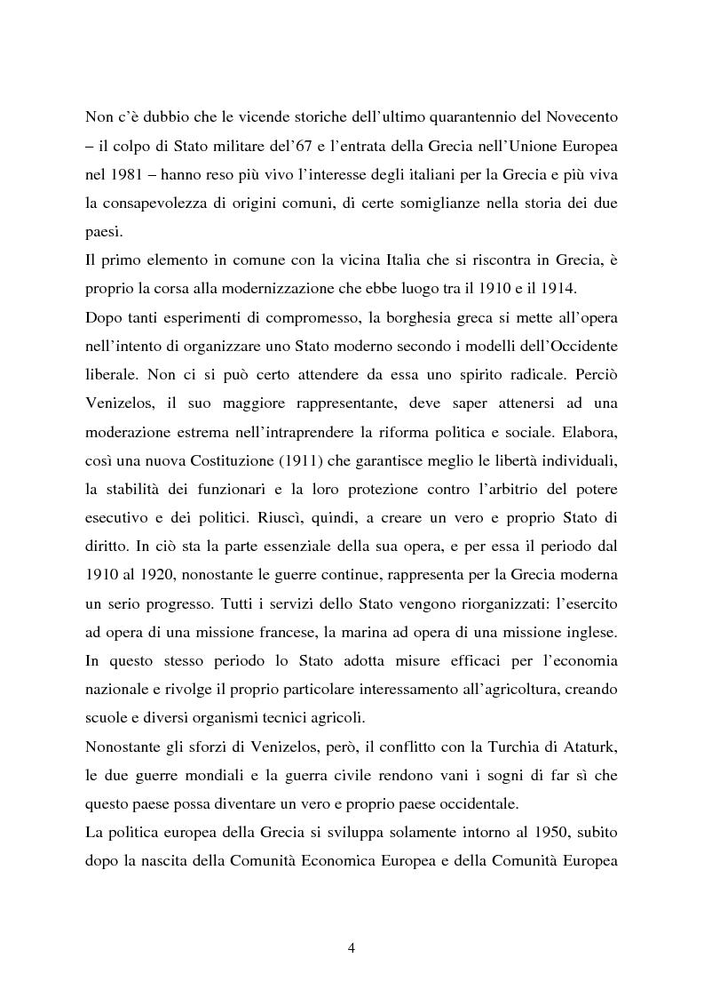 Anteprima della tesi: Le nuove vie della Grecia moderna, Pagina 2