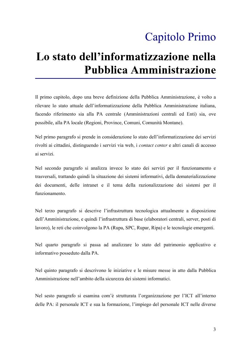 Anteprima della tesi: Lo stato delle Intranet nella Pubblica Amministrazione, Pagina 1
