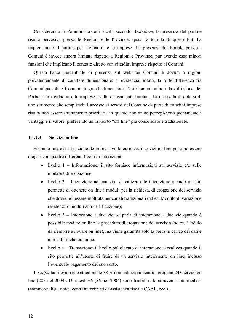 Anteprima della tesi: Lo stato delle Intranet nella Pubblica Amministrazione, Pagina 10