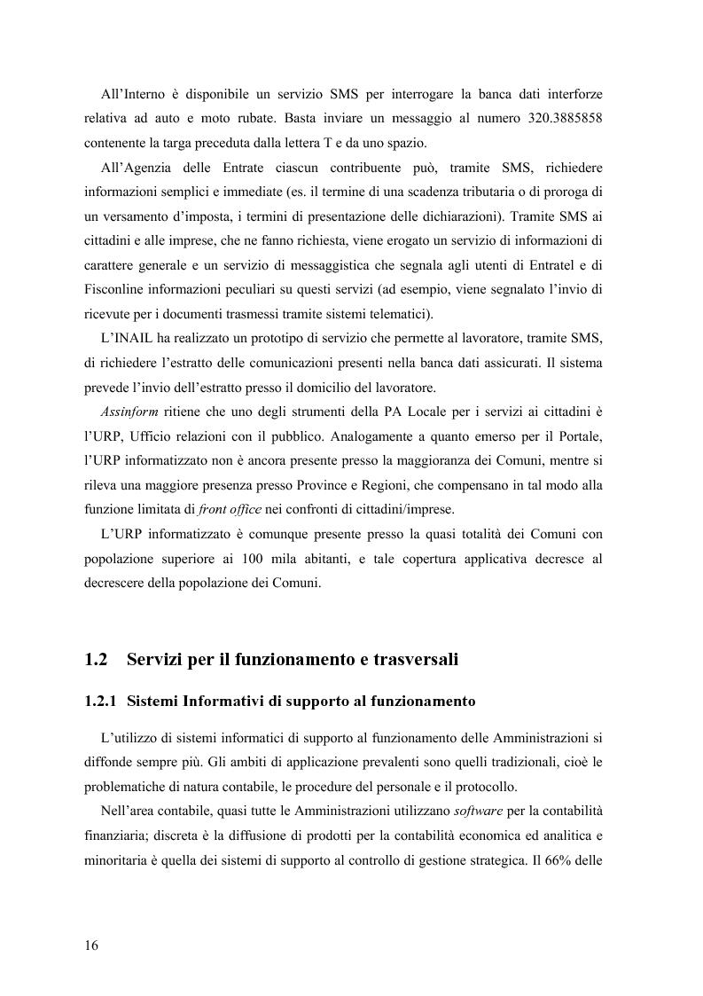 Anteprima della tesi: Lo stato delle Intranet nella Pubblica Amministrazione, Pagina 14