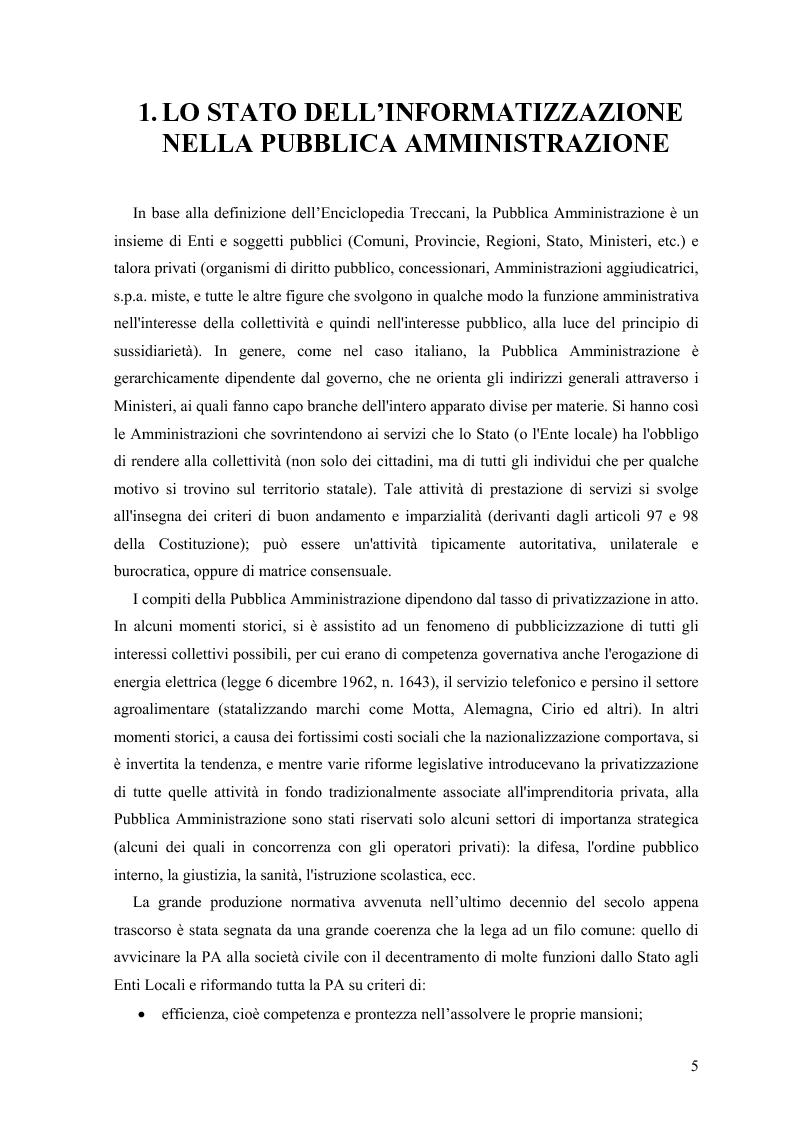 Anteprima della tesi: Lo stato delle Intranet nella Pubblica Amministrazione, Pagina 3