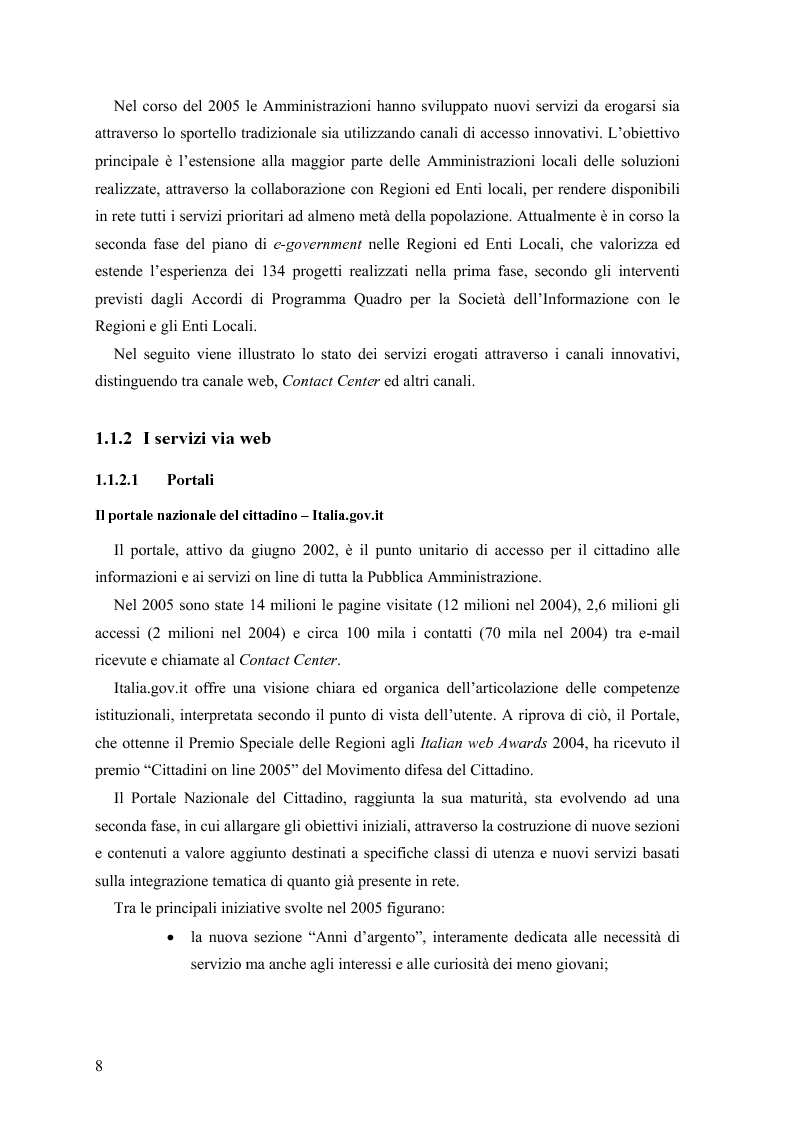 Anteprima della tesi: Lo stato delle Intranet nella Pubblica Amministrazione, Pagina 6