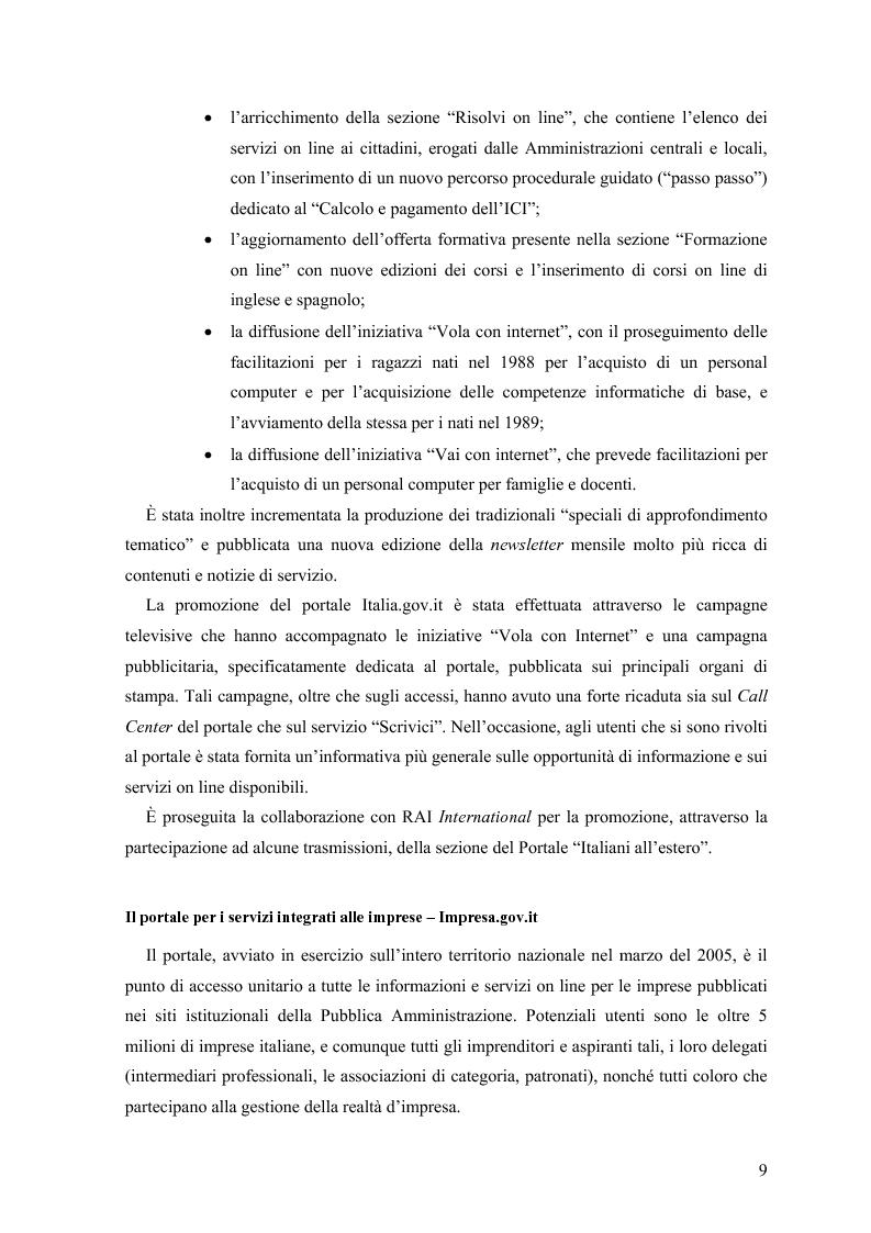 Anteprima della tesi: Lo stato delle Intranet nella Pubblica Amministrazione, Pagina 7