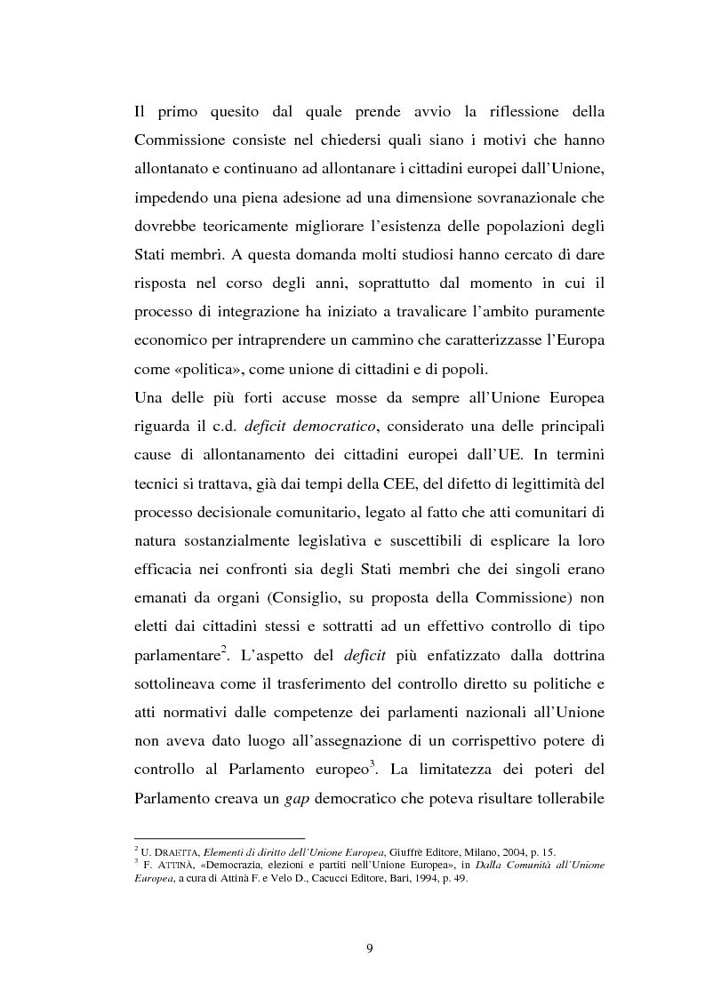 Anteprima della tesi: La comunicazione istituzionale dell'Unione Europea, Pagina 5