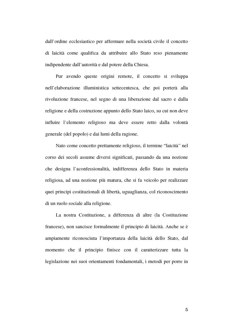 Anteprima della tesi: Simboli religiosi: esposizione del crocifisso alla luce della recente giurisprudenza, Pagina 3