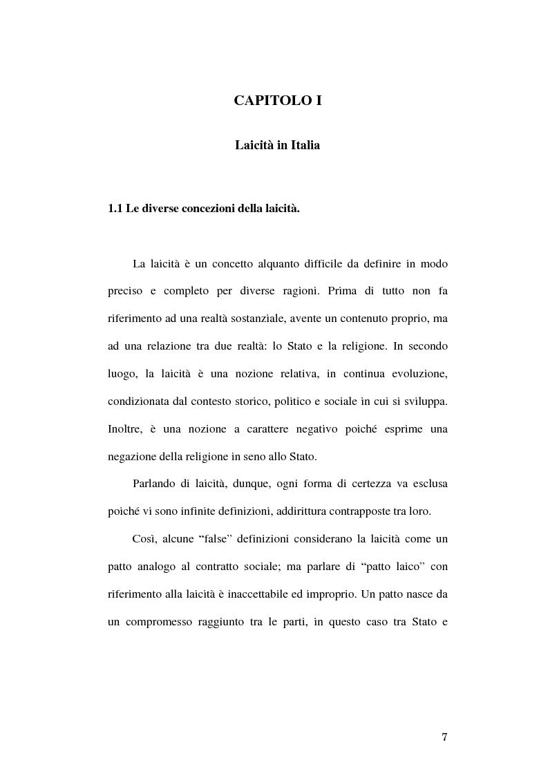 Anteprima della tesi: Simboli religiosi: esposizione del crocifisso alla luce della recente giurisprudenza, Pagina 5