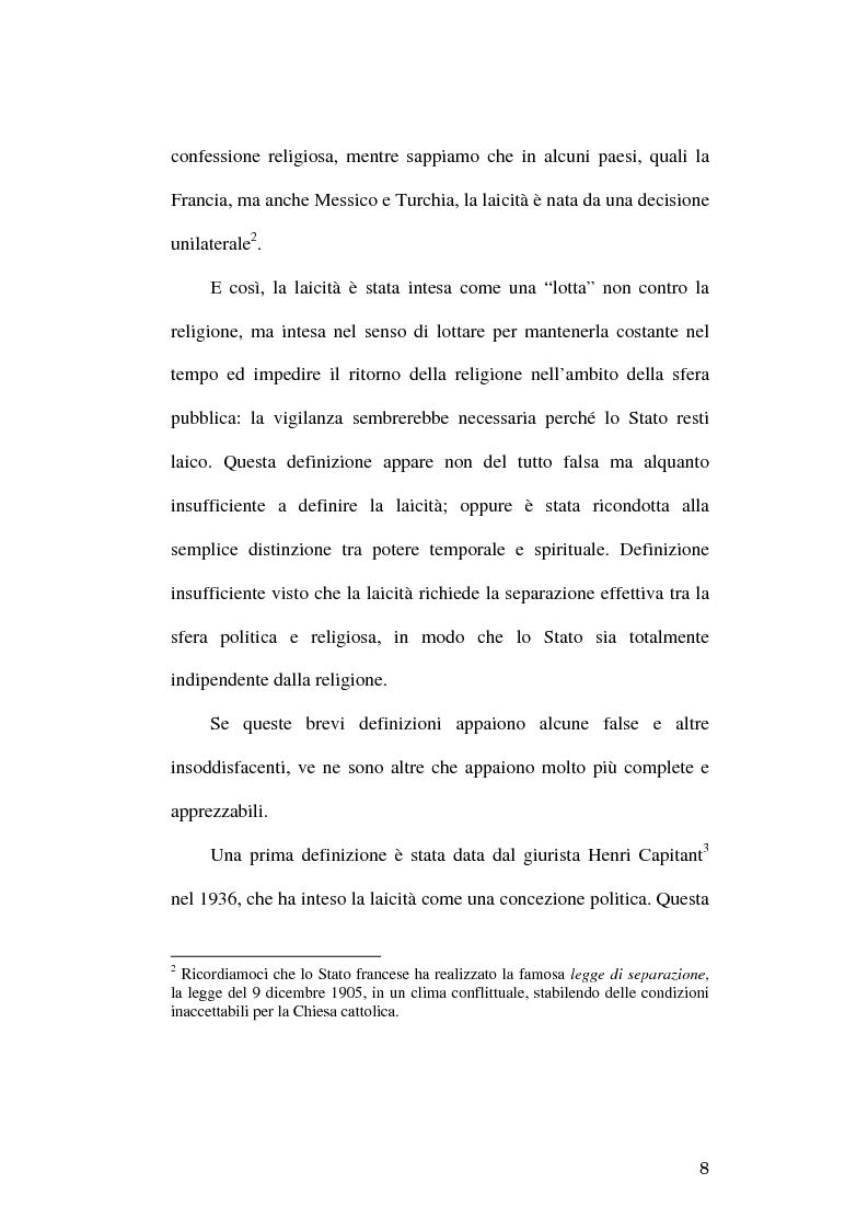 Anteprima della tesi: Simboli religiosi: esposizione del crocifisso alla luce della recente giurisprudenza, Pagina 6