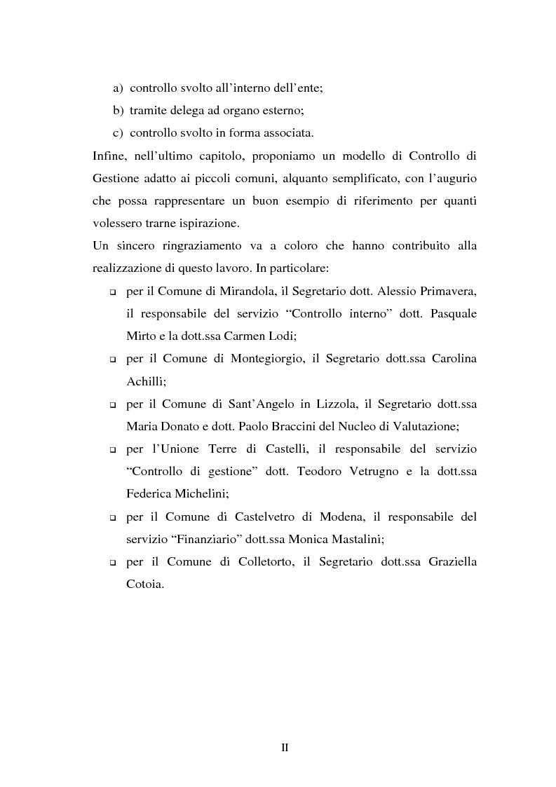 Anteprima della tesi: Il Controllo di Gestione negli Enti Locali minori, Pagina 2