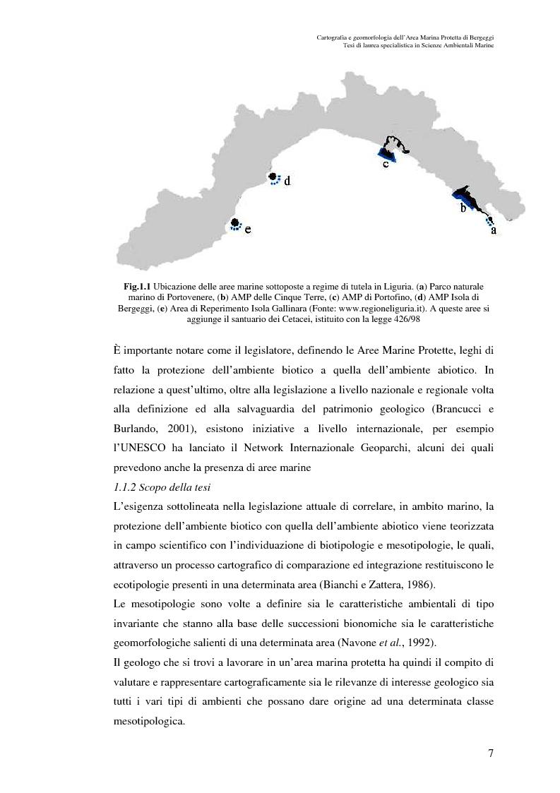 Anteprima della tesi: Cartografia e geomorfologia dei fondali dell'Area Marina Protetta di Bergeggi (SV)., Pagina 3