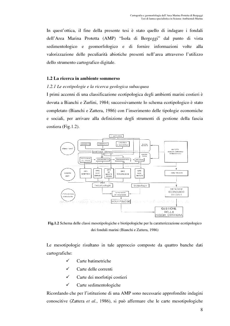 Anteprima della tesi: Cartografia e geomorfologia dei fondali dell'Area Marina Protetta di Bergeggi (SV)., Pagina 4