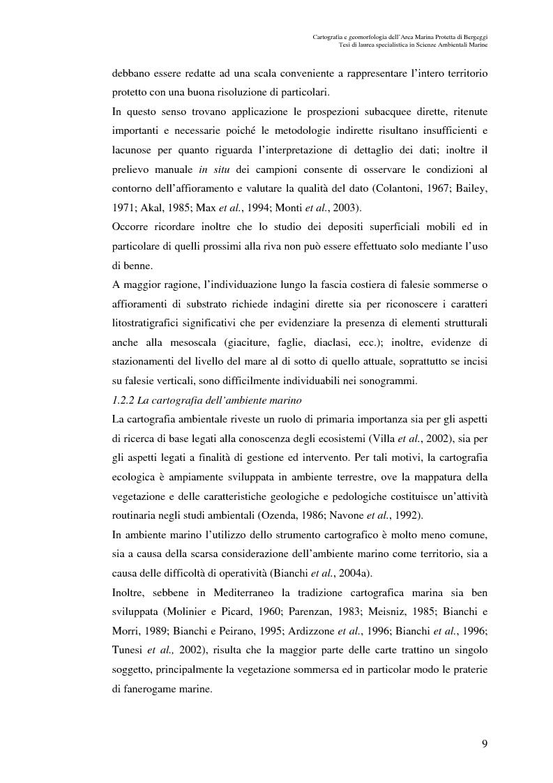 Anteprima della tesi: Cartografia e geomorfologia dei fondali dell'Area Marina Protetta di Bergeggi (SV)., Pagina 5