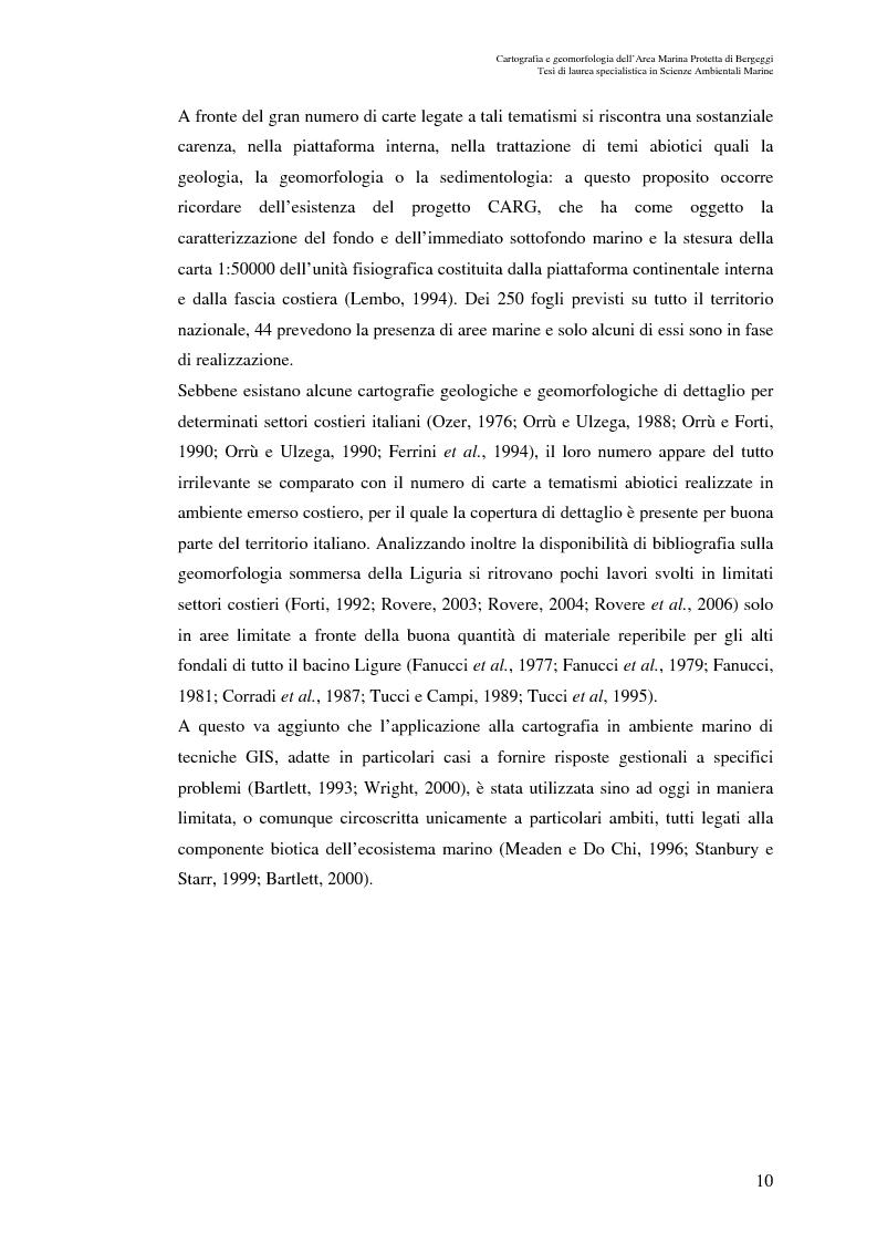 Anteprima della tesi: Cartografia e geomorfologia dei fondali dell'Area Marina Protetta di Bergeggi (SV)., Pagina 6