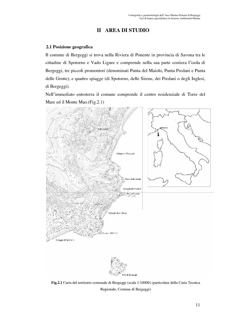 Anteprima della tesi: Cartografia e geomorfologia dei fondali dell'Area Marina Protetta di Bergeggi (SV)., Pagina 7