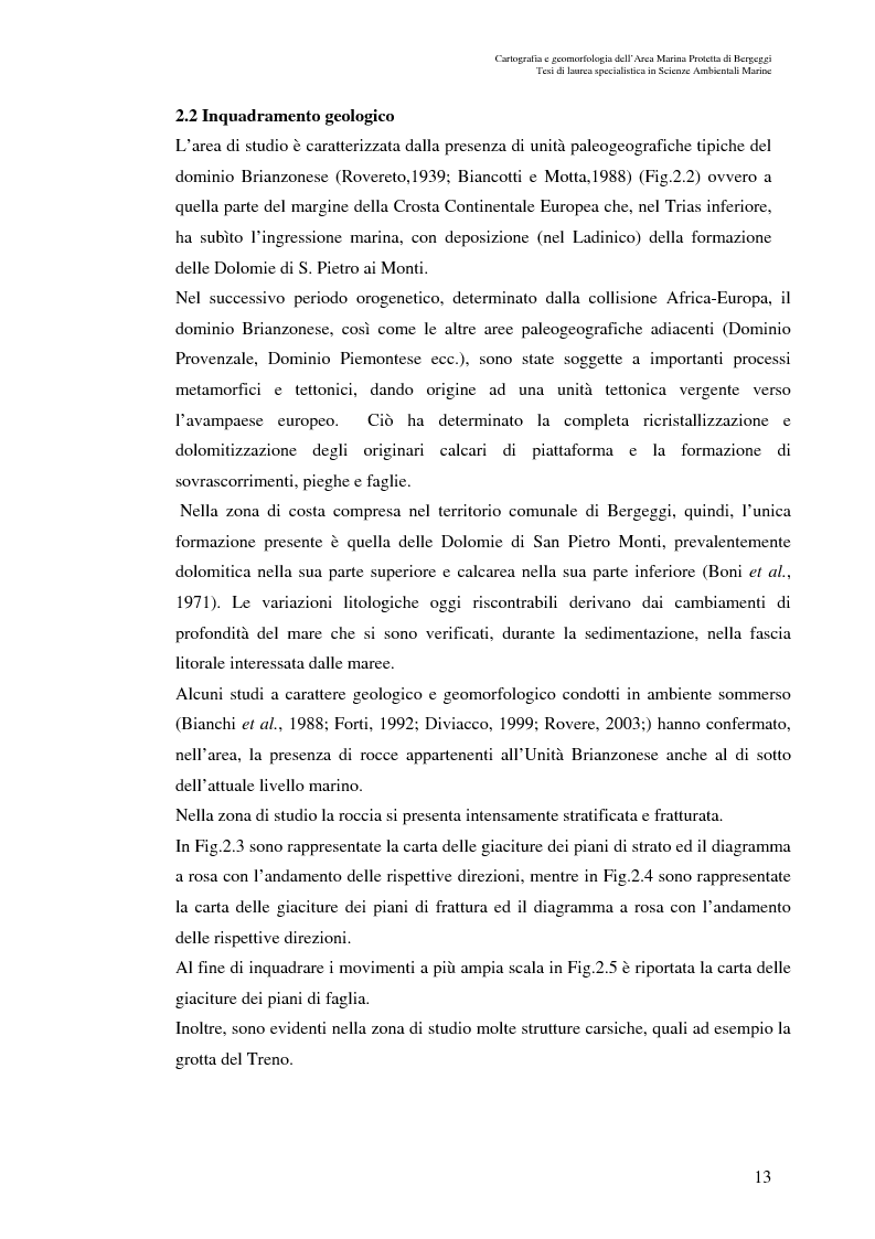 Anteprima della tesi: Cartografia e geomorfologia dei fondali dell'Area Marina Protetta di Bergeggi (SV)., Pagina 9
