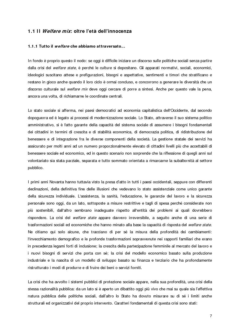 Anteprima della tesi: Welfare Re-Mix considerazioni a sostegno di un dialogo possibile tra bene comune e razionalità limitate, Pagina 4
