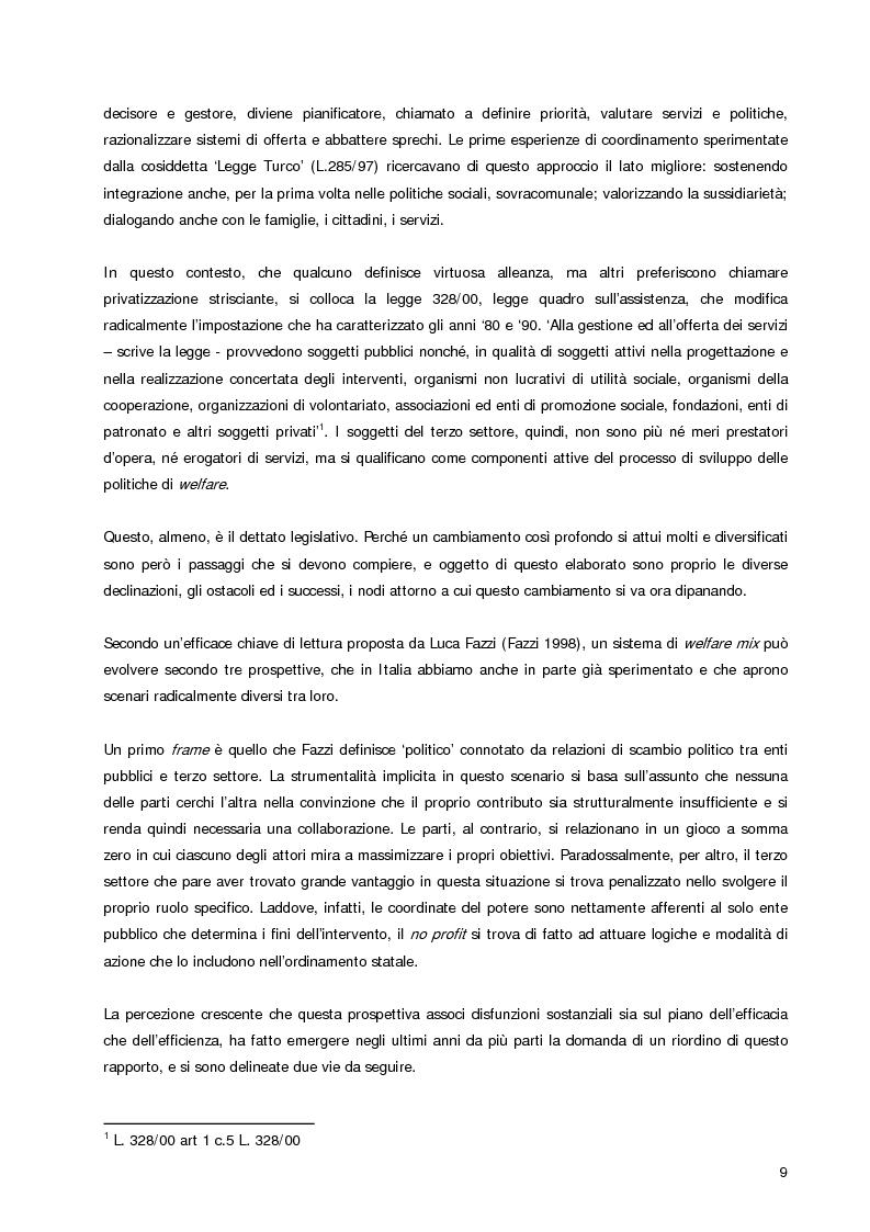 Anteprima della tesi: Welfare Re-Mix considerazioni a sostegno di un dialogo possibile tra bene comune e razionalità limitate, Pagina 6