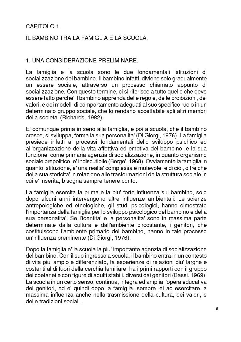 Anteprima della tesi: Modelli familiari di riferimento nei libri di testo per la scuola elementare, Pagina 2
