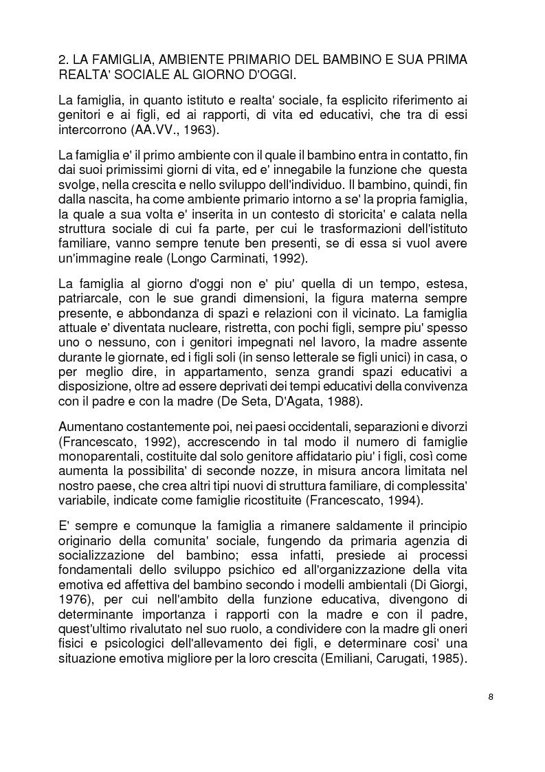 Anteprima della tesi: Modelli familiari di riferimento nei libri di testo per la scuola elementare, Pagina 4