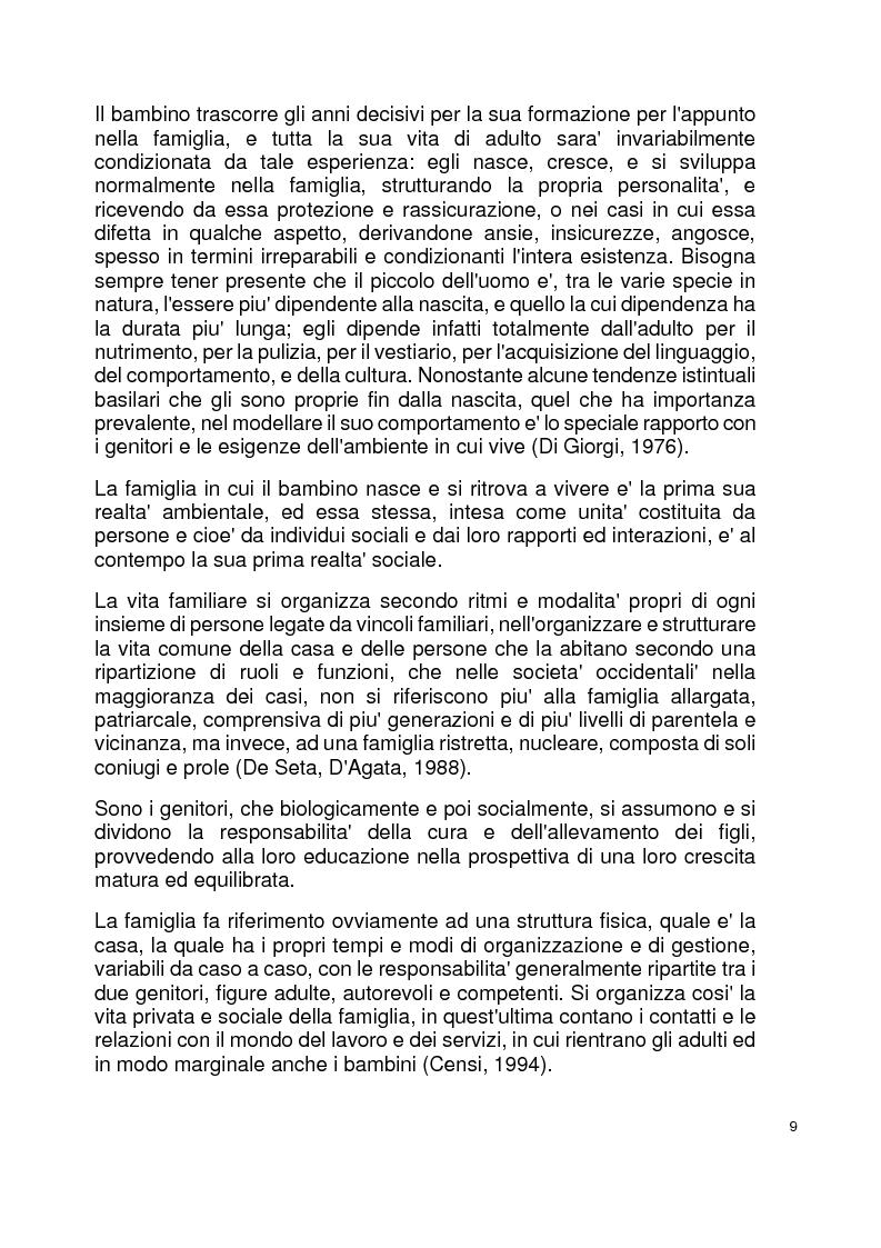 Anteprima della tesi: Modelli familiari di riferimento nei libri di testo per la scuola elementare, Pagina 5