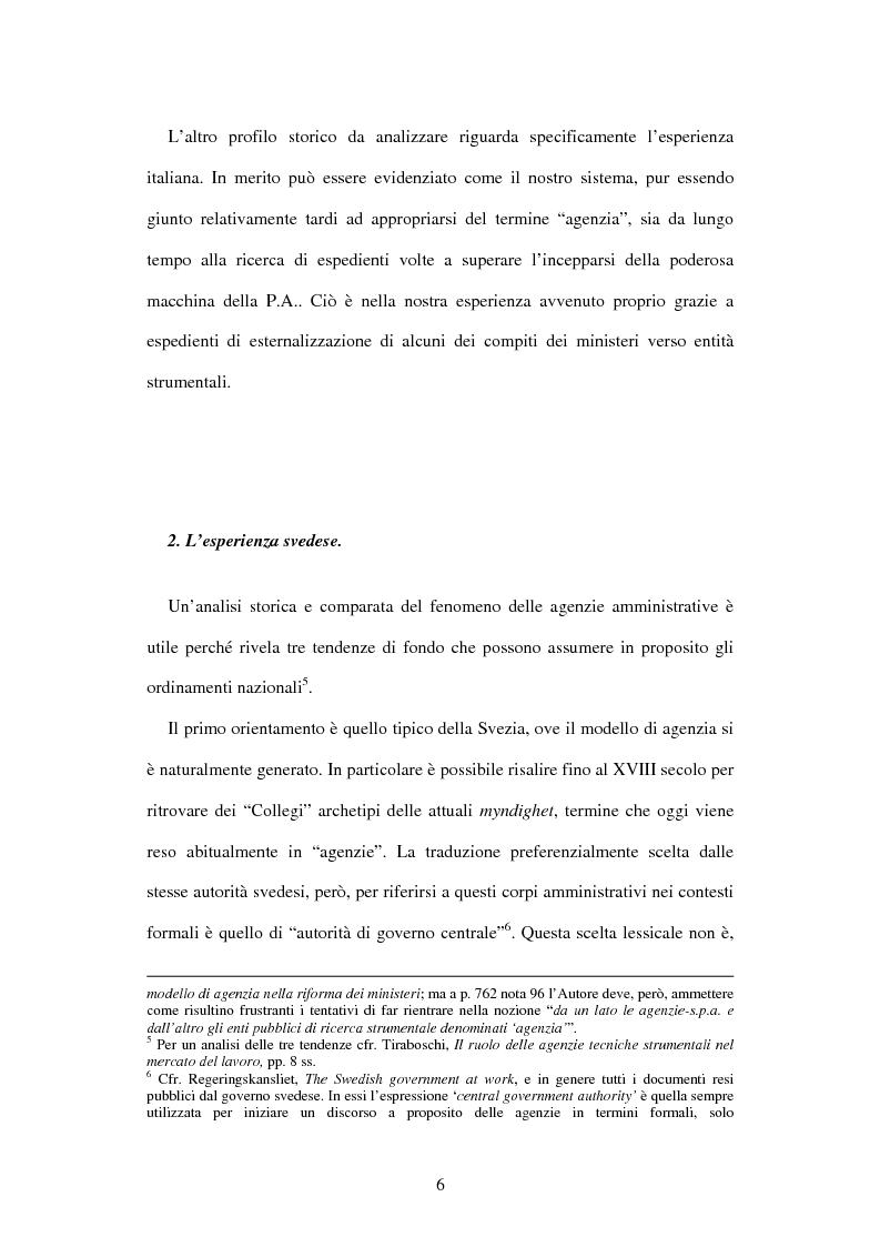 Anteprima della tesi: Le agenzie amministrative europee e nazionali: un fenomeno di strumentalità nell'organizzazione dei pubblici poteri, Pagina 4