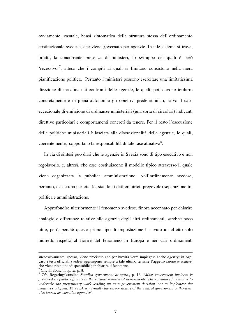 Anteprima della tesi: Le agenzie amministrative europee e nazionali: un fenomeno di strumentalità nell'organizzazione dei pubblici poteri, Pagina 5