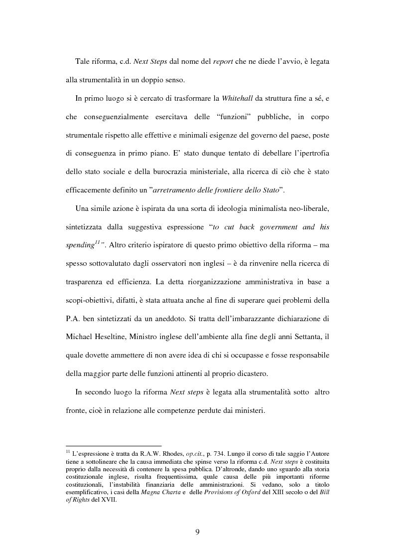 Anteprima della tesi: Le agenzie amministrative europee e nazionali: un fenomeno di strumentalità nell'organizzazione dei pubblici poteri, Pagina 7