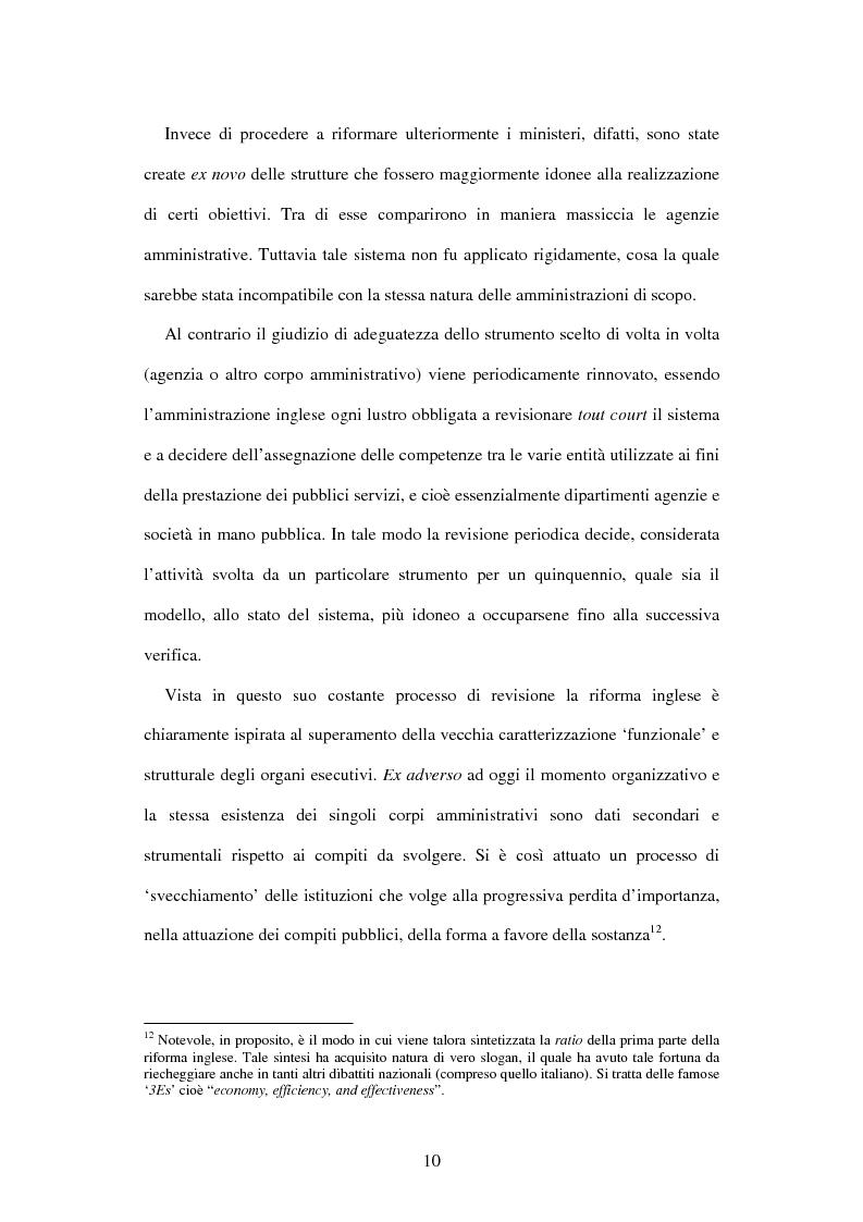 Anteprima della tesi: Le agenzie amministrative europee e nazionali: un fenomeno di strumentalità nell'organizzazione dei pubblici poteri, Pagina 8
