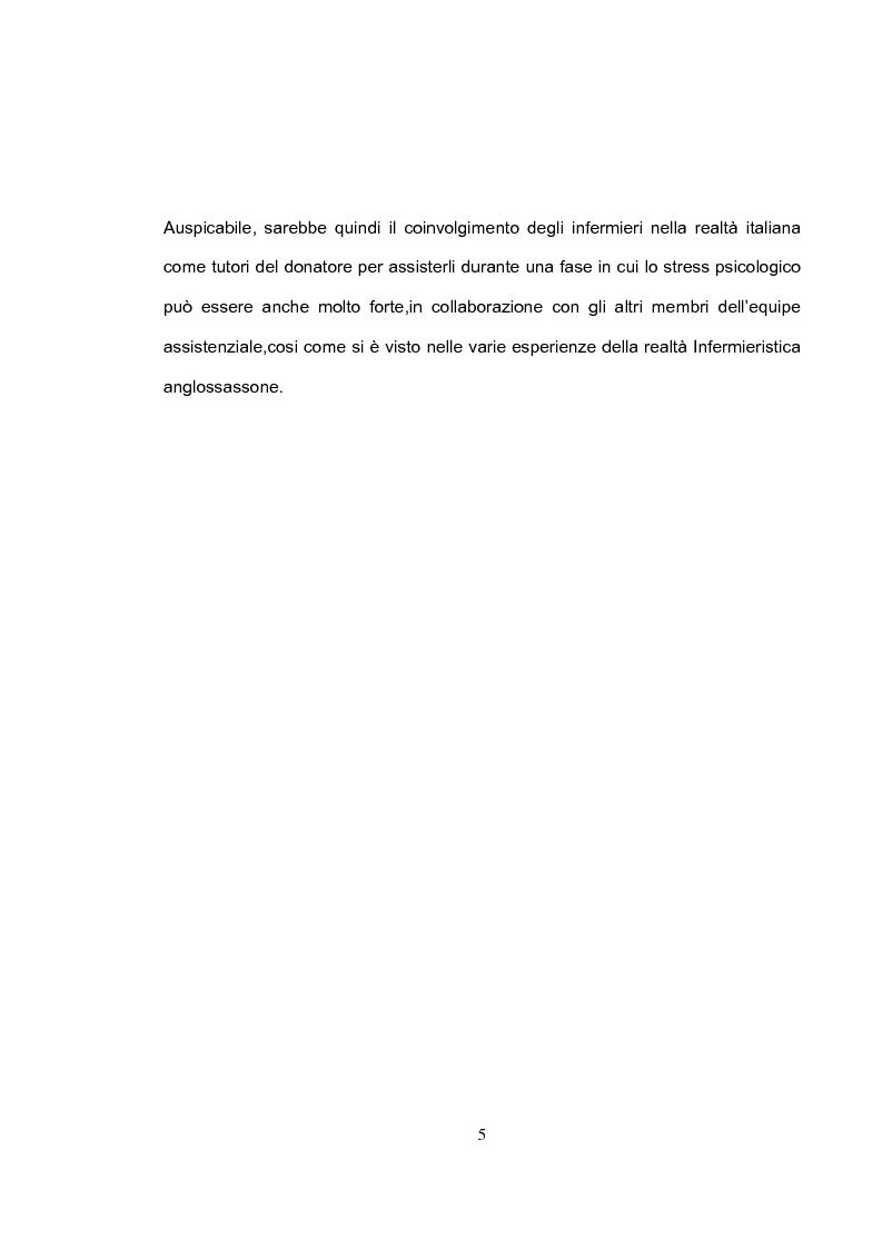 Anteprima della tesi: La tutela del donatore vivente: il ruolo dell'infermiere, Pagina 2